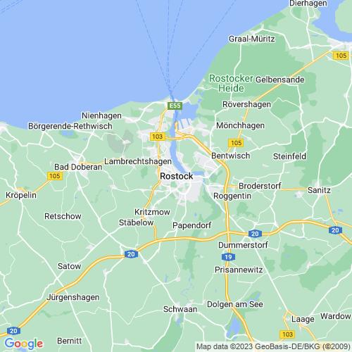 Karte von Rostock und Umgebung