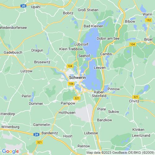 Karte von Schwerin und Umgebung