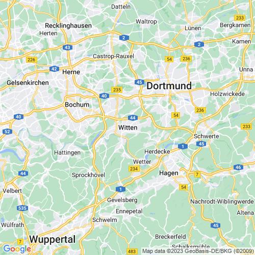 Karte von Witten und Umgebung