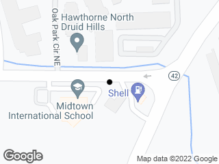 Map showing location of Sheridan Rd @ Marquis (MARTA stop) - Eastbound