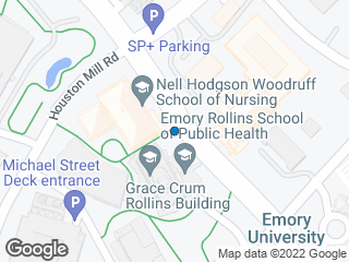 Map showing location of Clifton @ Nursing Sch