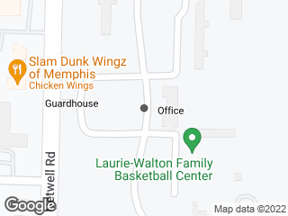 Map showing location of Park Ave Campus Entrance