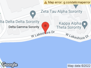 Map showing location of Delta Zeta (Eastbound)