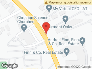 Map showing location of Clairemont @ Clairemont Oaks (MARTA stop)