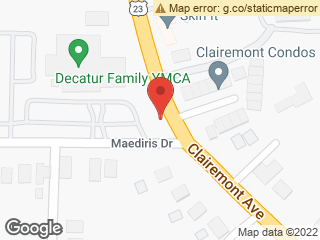 Map showing location of Clairemont @ Maediris (YMCA)