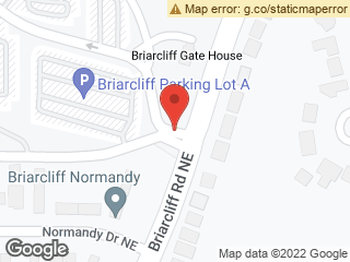 Map showing location of Briarcliff Campus Entrance