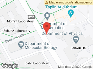 Map showing location of Jadwin Hall