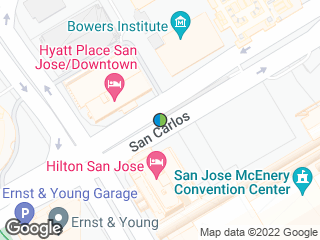 Map showing location of Convention Center (To: Santa Teresa/Winchester)
