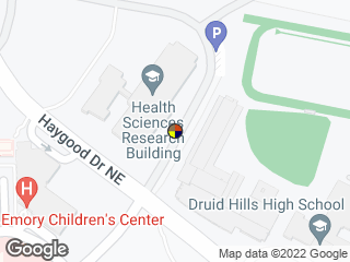 Map showing location of Andrews Cir @ Health Sci Research Bldg (Southbound)