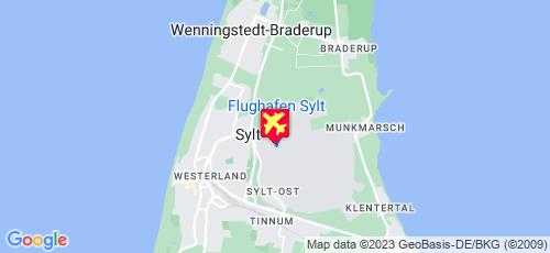 Aéroport de Sylt Westerland sur la carte