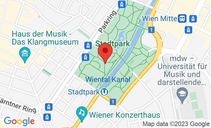 Geokoordinaten Prominente liefen blind im Wiener Stadtpark beim Warm-Up für den erste bank vienna night run - BILD