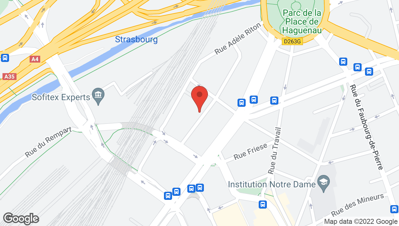 Map of voco Strasbourg Centre - The Garden