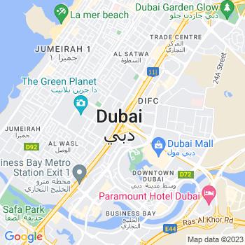 Google Map of Dubai
