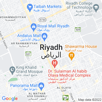 Google Map of Riyadh