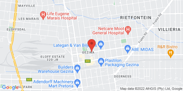 Electrician Pretoria Map