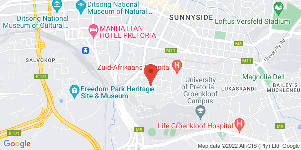 Boutique Offices Muckleneuk overlooking City Bowl and Union Buildings Map