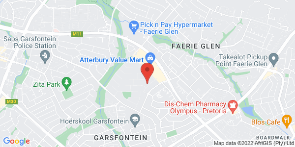 Flatlet in Garsfontein Secura Park Map