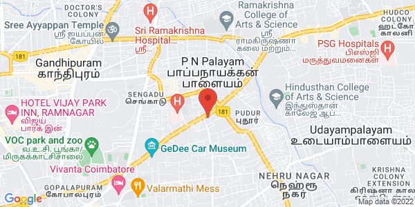 Honda Bike Showroom in Coimbatore - Pressana Honda Map
