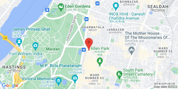Unisex spa massage center and parlour in Park Street, Kolkata Map