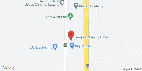 Evergreen Beauty Haven Map