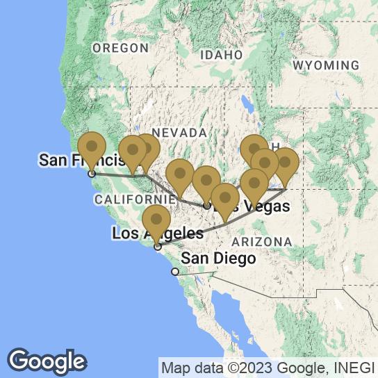 Carte circuit : Le Meilleur de l'Ouest Américain