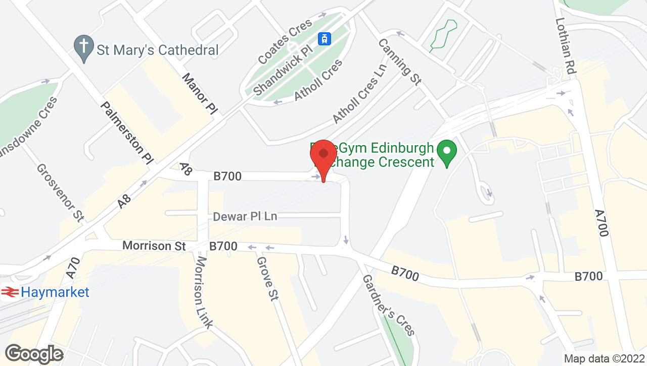 Map of voco Edinburgh - Haymarket