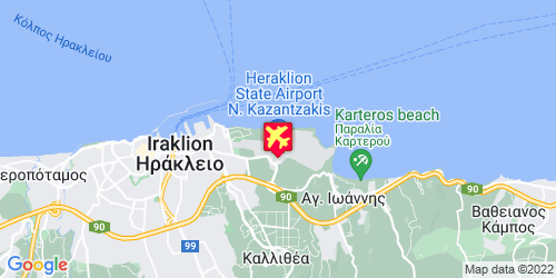 Heraklion Airport - kaart