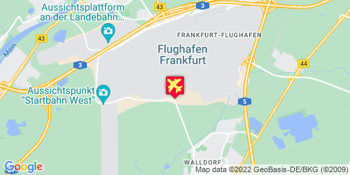 Frankfurt am Main Airport - kaart