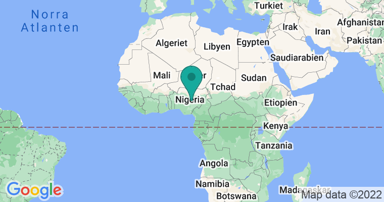 Google Map of Nigeria