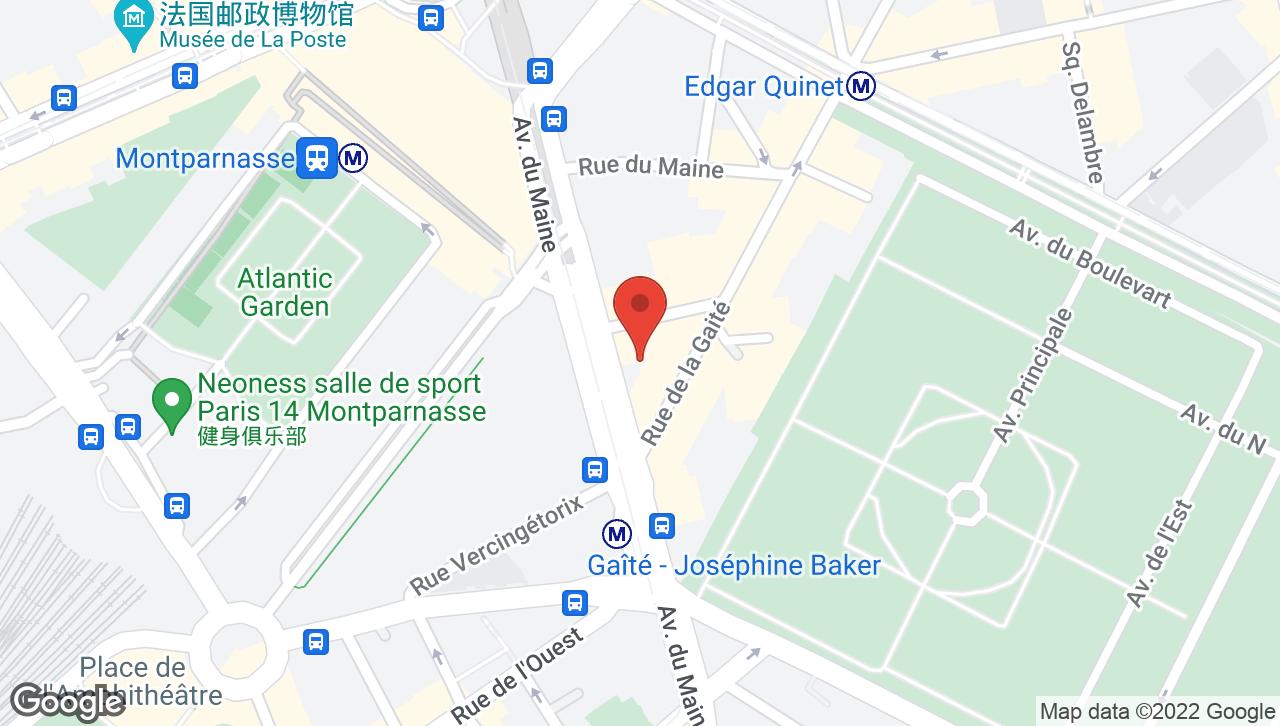 Map of voco Paris Montparnasse