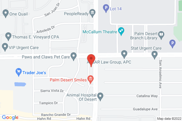 Acuity Eye Group, Retina Institute & Acuity 360 Advanced Vision Center - Palm Desert Map
