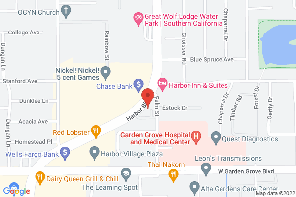 Retina Institute - Garden Grove Map