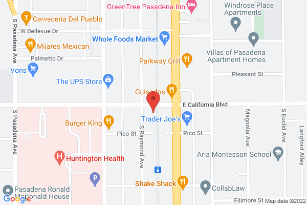 Acuity Eye Group & Retina Institute - Pasadena Map