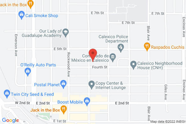 Acuity Eye Group - Calexico Map