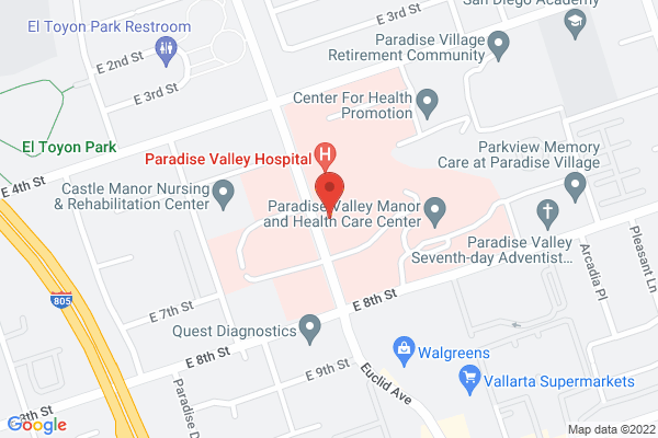 Precision Eye Care & Acuity Eye Group - National City Map