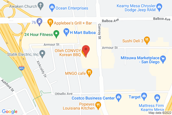 West Coast Eye Care & Acuity Eye Group - Clairemont Map