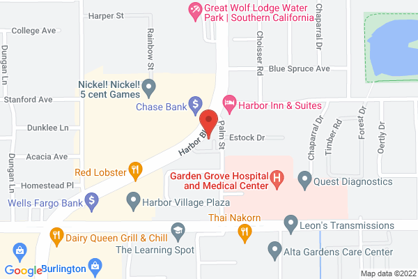Retina Institute & Acuity Eye Group - Garden Grove Map
