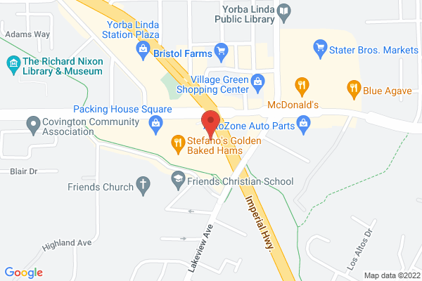 Acuity Eye Group - Yorba Linda Map