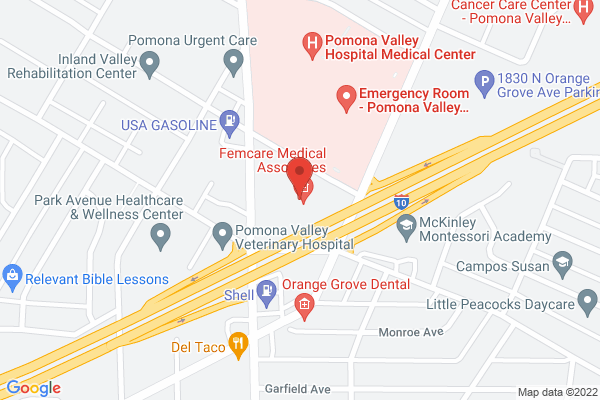 Acuity Eye Group & Retina Institute - Pomona Map