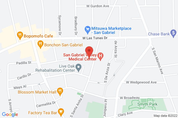 Acuity Eye Group - San Gabriel Map