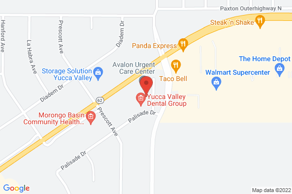 Schultz Eye Clinic - Yucca Valley Map