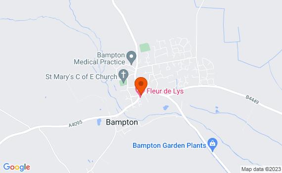 Aerial view of Bampton