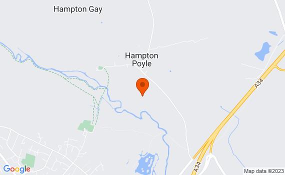 Aerial view of Hampton Poyle
