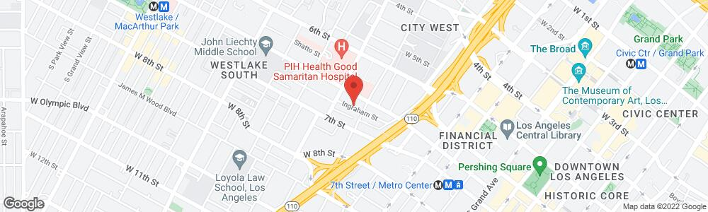 Map of the law firm Girardi | Keese