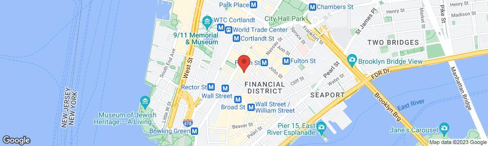 Map of the law firm Kelner & Kelner