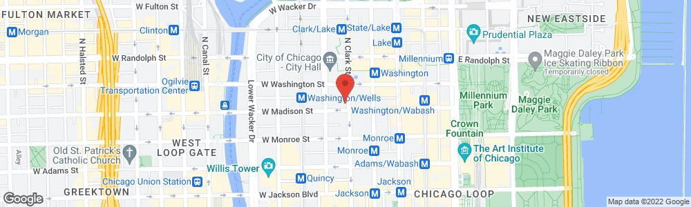 Map of the law firm Rapoport Weisberg & Sims P.C.