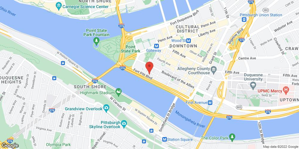 Map of the law firm Caroselli, Beachler, & Coleman, LLC