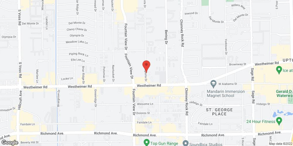 Map of the law firm Kennard Richard P.C.