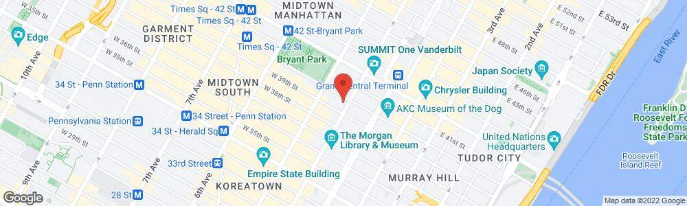 Map of the law firm Katz Melinger PLLC