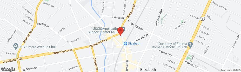 Map of the law firm Eisdorfer Eisdorfer & Eisdorfer, LLC